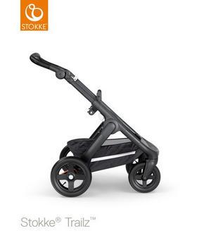 Stokke Trailz chassi svart - svart, Basics, metall/textil (62/127/95,5cm) - Stokke