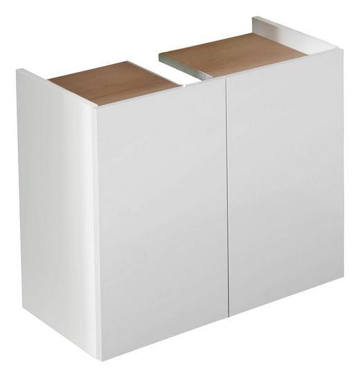 WASCHBECKENUNTERSCHRANK Weiß - Eichefarben/Weiß, KONVENTIONELL, Holzwerkstoff (60/51/33cm) - Xora