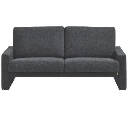 SOFA Anthrazit  - Anthrazit/Schwarz, Design, Kunststoff/Textil (176/84/96cm) - Erpo