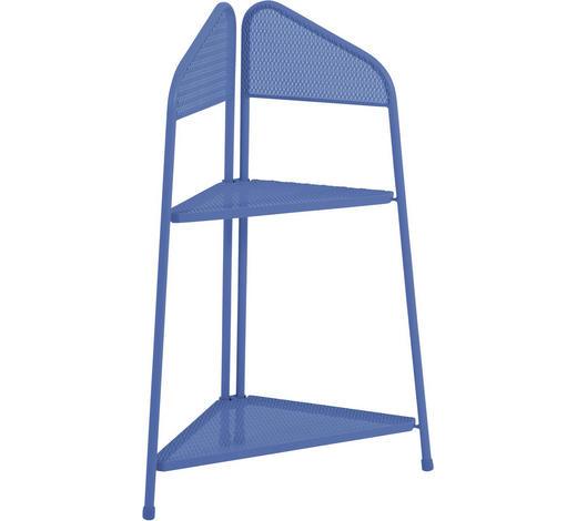 ECKREGAL in Blau - Blau, KONVENTIONELL, Metall (48/48/100cm)