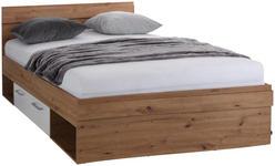 Bett Box 140x200 Artisan Eiche/Alpinweiß - Eichefarben/Weiß, MODERN, Holzwerkstoff (140/200cm) - Ombra
