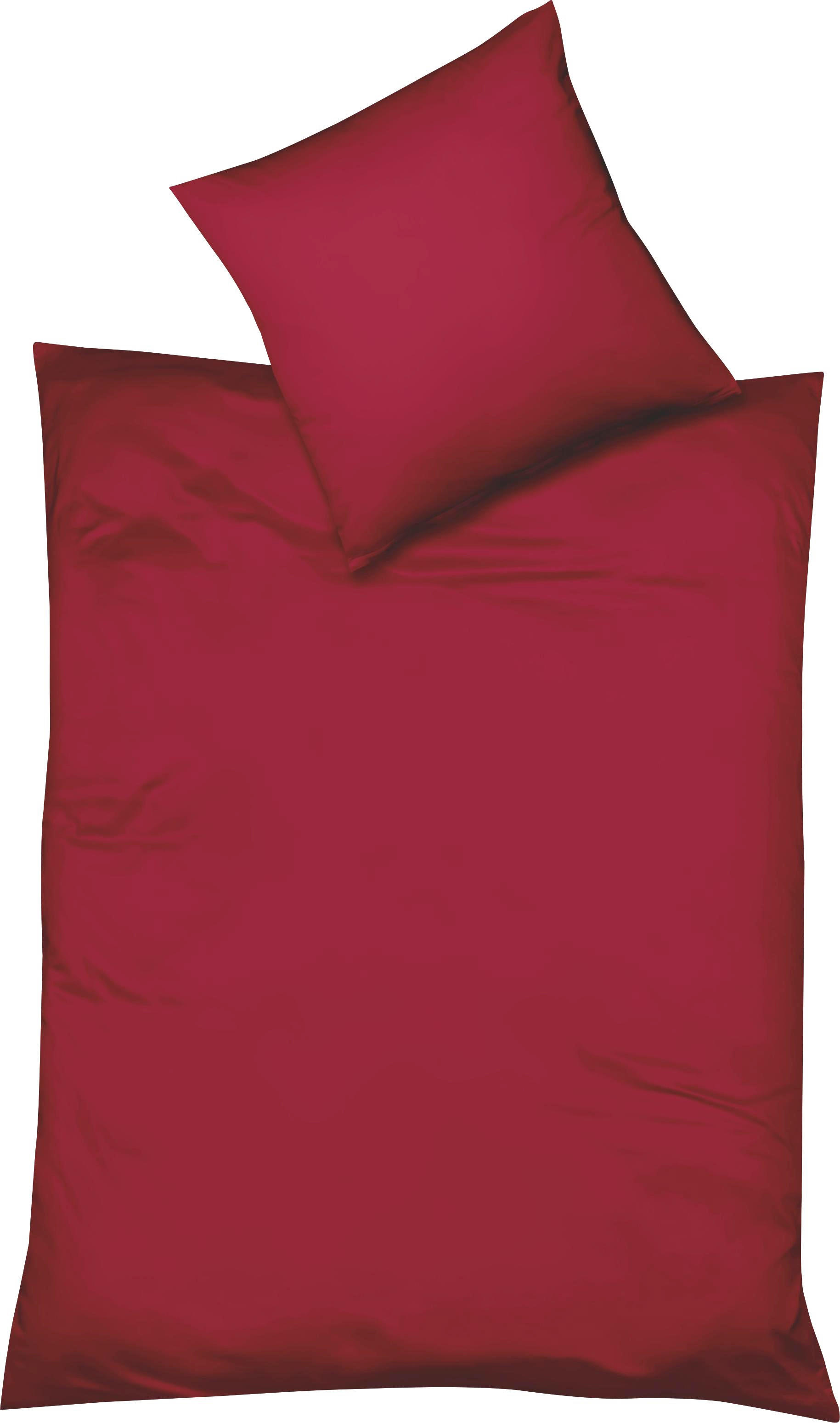 BETTWÄSCHE Makosatin Rot 155/220 cm - Rot, Textil (155/220cm) - FLEURESSE