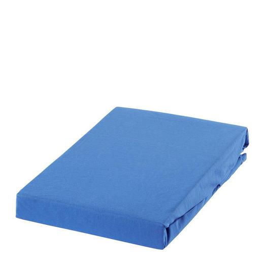 SPANNBETTTUCH Jersey Blau bügelleicht, für Wasserbetten geeignet - Blau, Basics, Textil (180/200cm) - Esposa