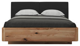 BETT Buche, Eiche massiv 180/200 cm  - Eichefarben/Anthrazit, KONVENTIONELL, Holz/Textil (180/200cm) - Valnatura