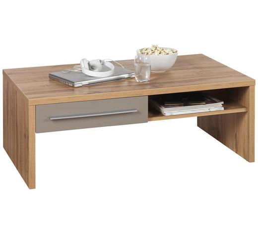 COUCHTISCH in Holzwerkstoff 110/65/40 cm - Eichefarben/Grau, Design, Holzwerkstoff (110/65/40cm) - Hom`in
