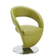 STOL, kovina, usnje nerjaveče jeklo, zelena - zelena/nerjaveče jeklo, Design, kovina/usnje (62/86/61cm) - Moderano