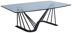 SOFFBORD - klar/svart, Design, metall/glas (120/70/42cm)