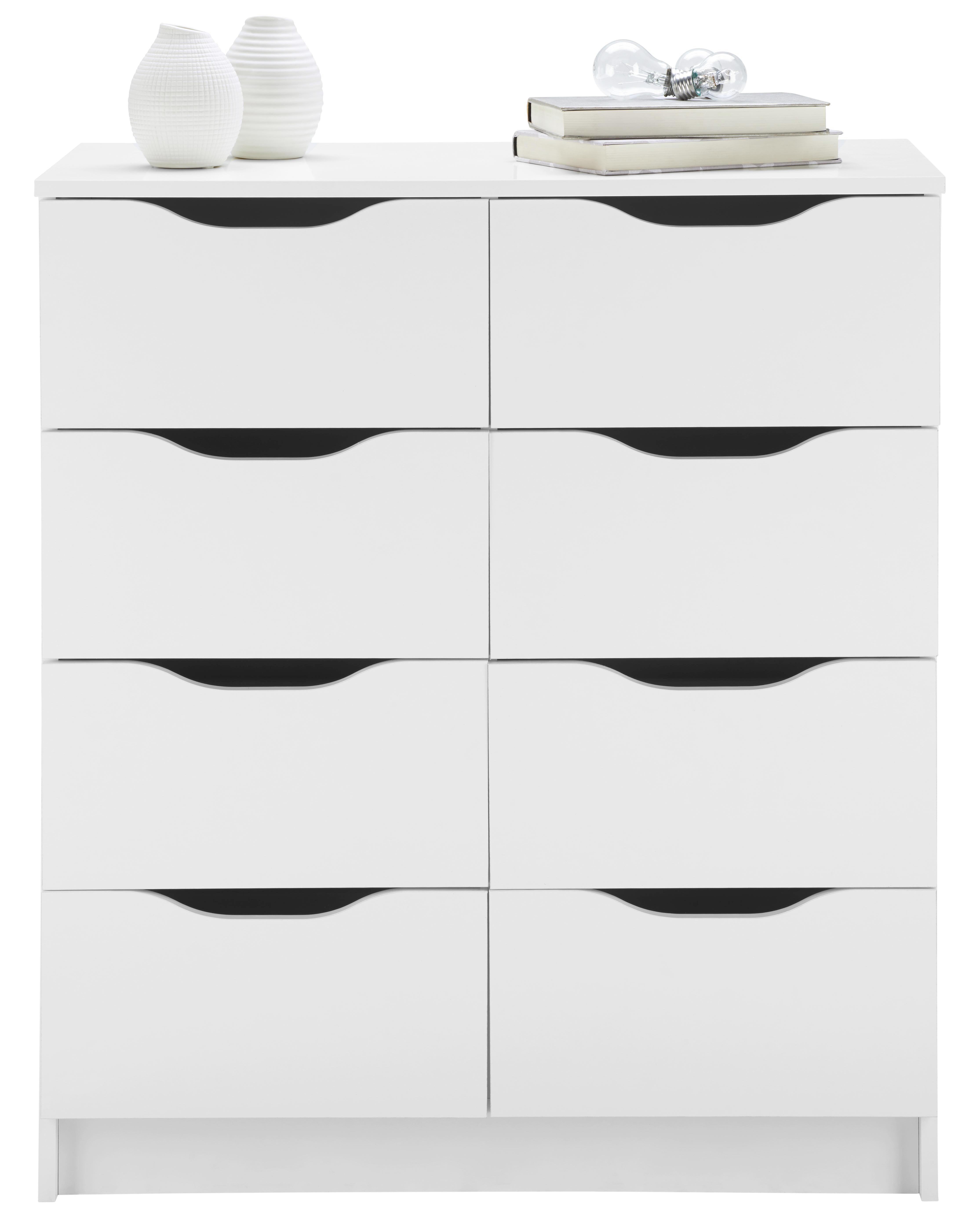 KOMODA - bijela, Design, drvni materijal (80/91/40cm) - CARRYHOME