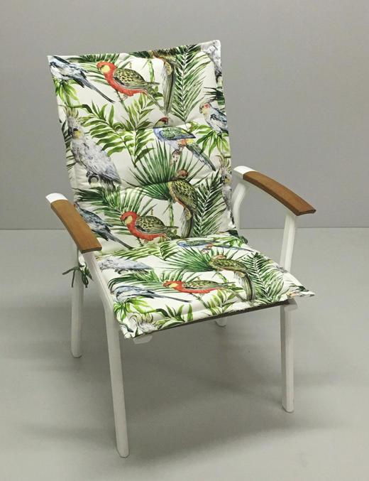 SESSELAUFLAGE in Multicolor Vogel - Multicolor, Design, Textil (48/109/4cm)