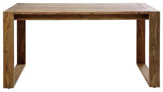 SCHREIBTISCH Sheesham massiv Naturfarben - Naturfarben, Trend, Holz (150/76/70cm) - Kare-Design