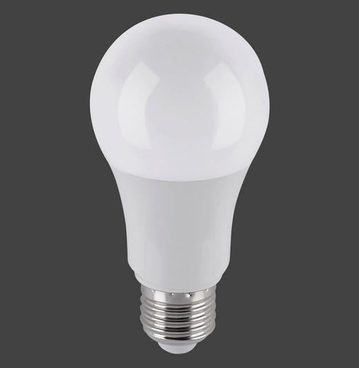 LED-LEUCHTMITTEL  E27 9,50 W - Weiß, Basics, Glas/Metall (6/6/12cm)