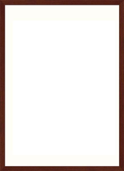 RÁM NA OBRAZY - tmavě hnědá, Basics, dřevo/sklo (73/53/3cm)