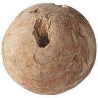 DEKOKUGEL - Teakfarben, ROMANTIK / LANDHAUS, Holz (20cm) - CARRYHOME