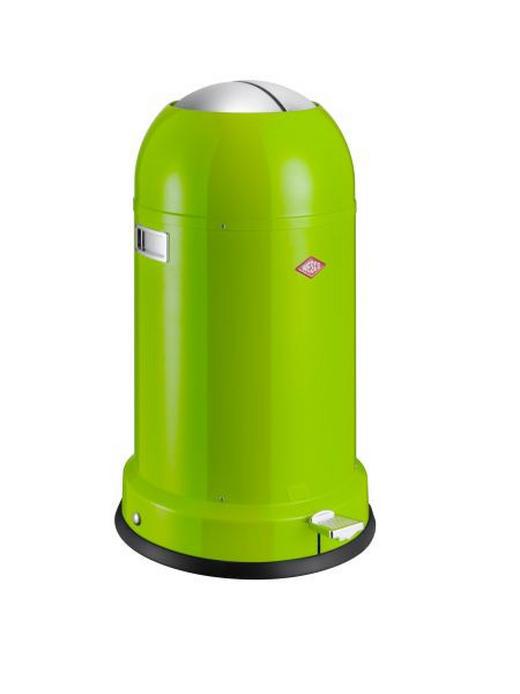 ABFALLSAMMLER Kickmaster CL Soft 33 L - Edelstahlfarben/Limette, Basics, Kunststoff/Metall (41/69cm) - Wesco