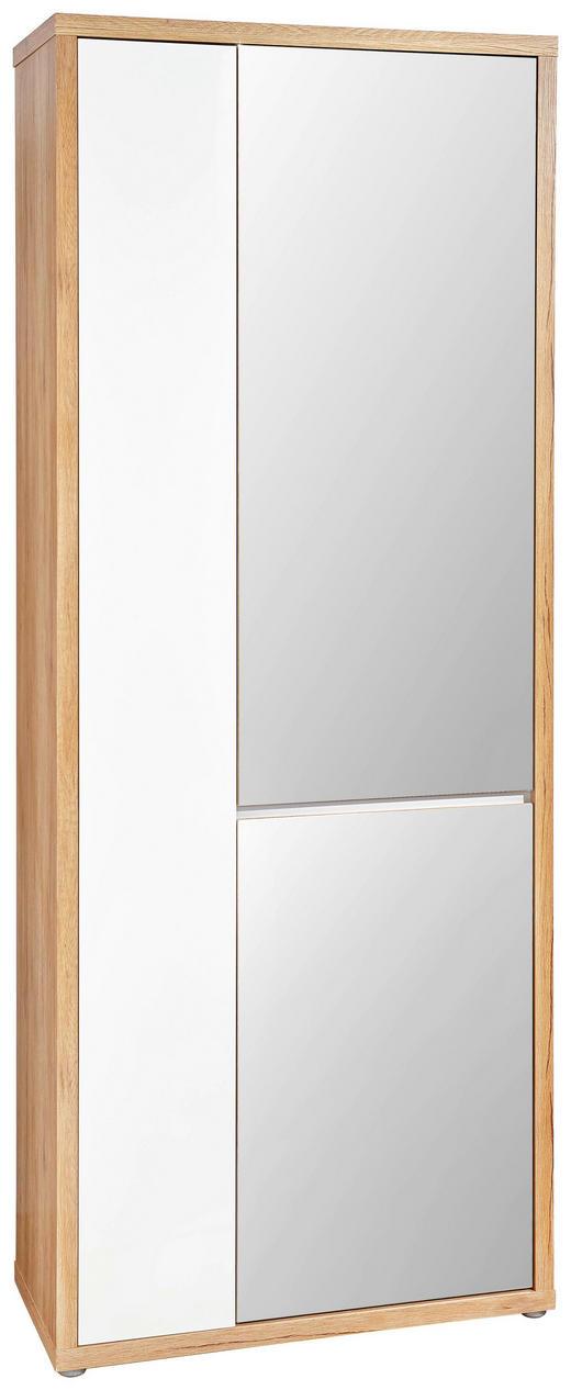 GARDEROB - vit/ekfärgad, Design, glas/träbaserade material (79/200/36cm) - VOLEO