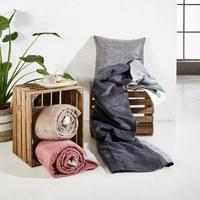 ODEJA DE VELA - siva/srebrna, Basics, tekstil (150/200/cm) - Novel