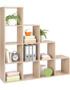 REGÁL, barvy dubu - barvy dubu, Design, kompozitní dřevo (149/150/35cm)