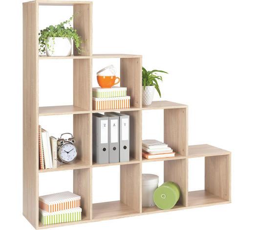 REGÁL - barvy dubu, Design, kompozitní dřevo (149/150/35cm)