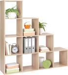 REGAL - boje hrasta, Design, drvni materijal (149/150/35cm)