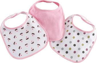 LÄTZCHEN 3-teilig - Pink/Lila, Basics, Textil (22/31cm) - MY BABY LOU