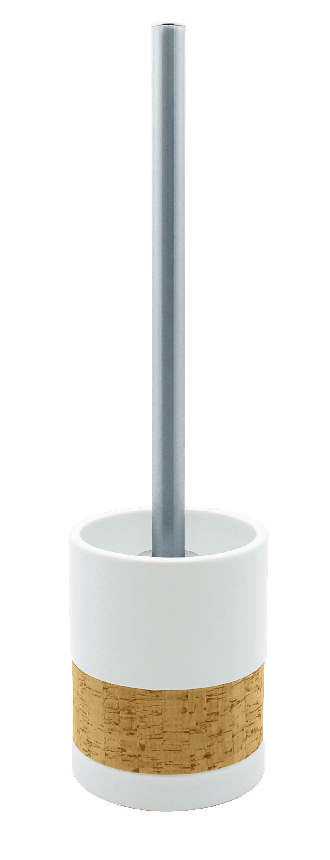WC SADA - bílá/barvy chromu, Basics, kov/dřevo (9,5/39/9,5cm) - CELINA