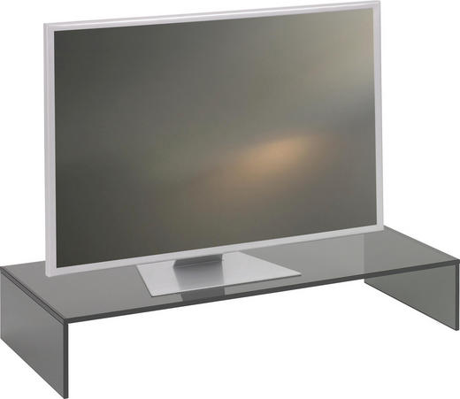 TV-AUFSATZ  Glas  Grau - Grau, Design, Glas (80/14/35cm) - Boxxx