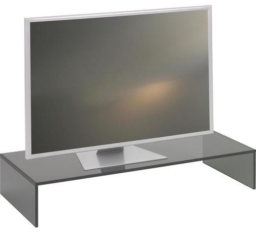 TV NÁSTAVEC, sklo, šedá - šedá, Design, sklo (80/14/35cm) - Boxxx