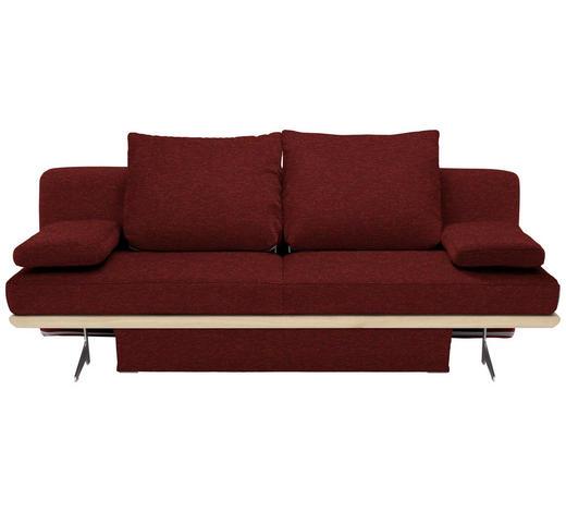 SCHLAFSOFA in Textil Orange, Rot - Chromfarben/Rot, Design, Textil/Metall (215/96/103cm) - Dieter Knoll
