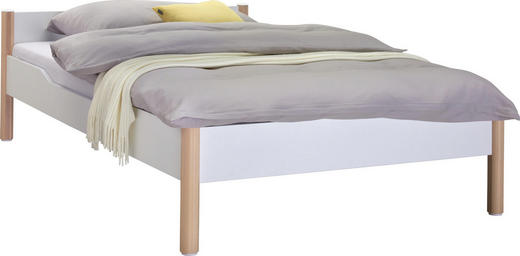 BETT  in Weiß, Birkefarben - Birkefarben/Weiß, Design, Holz/Holzwerkstoff (90/200cm) - Paidi