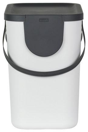 AVFALLSSAMLARE - vit, Basics, plast (40/23,5/34cm) - Rotho