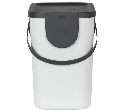 ABFALLSAMMLER 25 L l - Weiß, Basics, Kunststoff (40/23,5/34cm) - Rotho