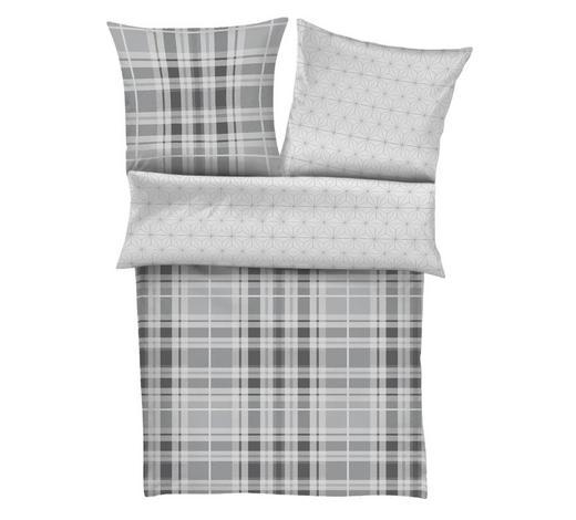 BETTWÄSCHE 200/200 cm - Weiß/Grau, Textil (200/200cm)