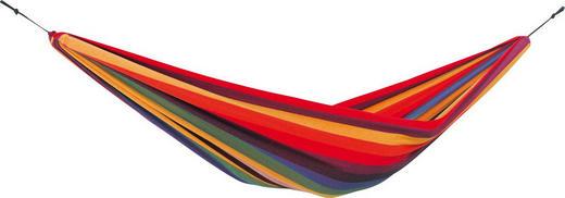HÄNGEMATTE Mischgewebe Blau, Braun, Gelb, Grün, Lila, Rot, Schwarz, Weiß - Blau/Gelb, Basics, Textil (220/120cm)