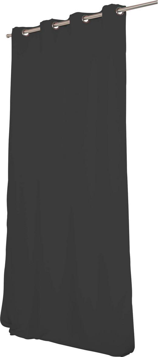 WÄRMESCHUTZVORHANG  Verdunkelung  145/260 cm - Anthrazit, Textil/Metall (145/260cm)