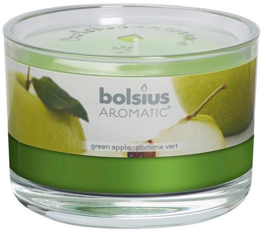 DUFTKERZE Grüner Apfel - Grün, Basics, Glas (9/6,3/cm) - Bolsius