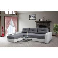 SJEDEĆA GARNITURA - bijela/siva, Design, drvo/tekstil (220/155cm) - Boxxx