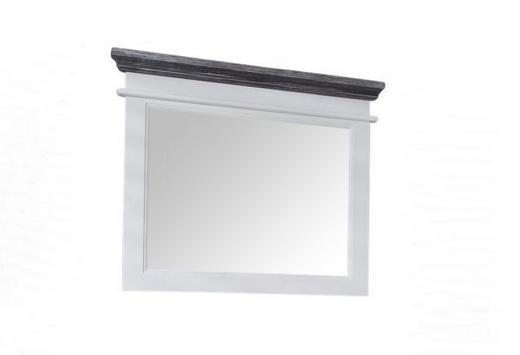 SPIEGEL Fichte Grau, Weiß - Weiß/Grau, LIFESTYLE, Glas/Holz (83/77/6cm) - Landscape