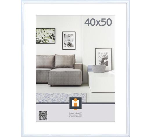 RÁM NA OBRAZY, 40/50 cm, bílá - bílá, Basics, umělá hmota/sklo (40/50cm)