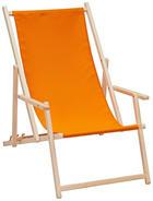 STRANDSESSEL in Buchefarben, Orange - Buchefarben/Orange, Design, Holz/Textil (56/66/103cm)