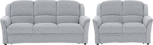 SITZGARNITUR in Textil Silberfarben, Alufarben, Hellgrau - Silberfarben/Hellgrau, KONVENTIONELL, Kunststoff/Textil (204/98/89cm) - Beldomo Comfort