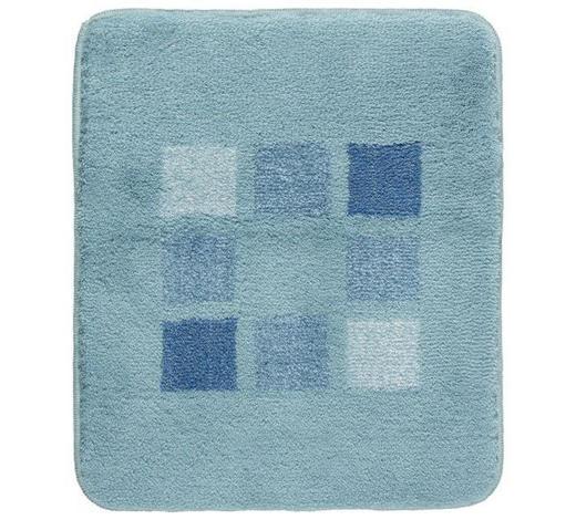 BADTEPPICH  Blau, Grün, Türkis  50/60 cm     - Türkis/Blau, KONVENTIONELL, Kunststoff/Textil (50/60cm) - Kleine Wolke