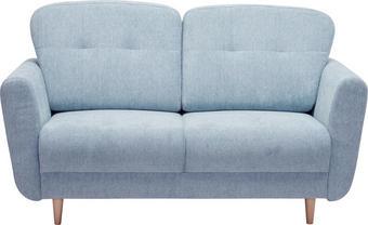 DVOUMÍSTNÁ POHOVKA, světle modrá, textil, - světle modrá, Design, dřevo/textil (154/90/93cm) - Hom`in