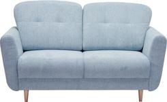 ZWEISITZER-SOFA in Textil Hellblau - Hellblau, Design, Holz/Textil (154/90/93cm) - Hom`in