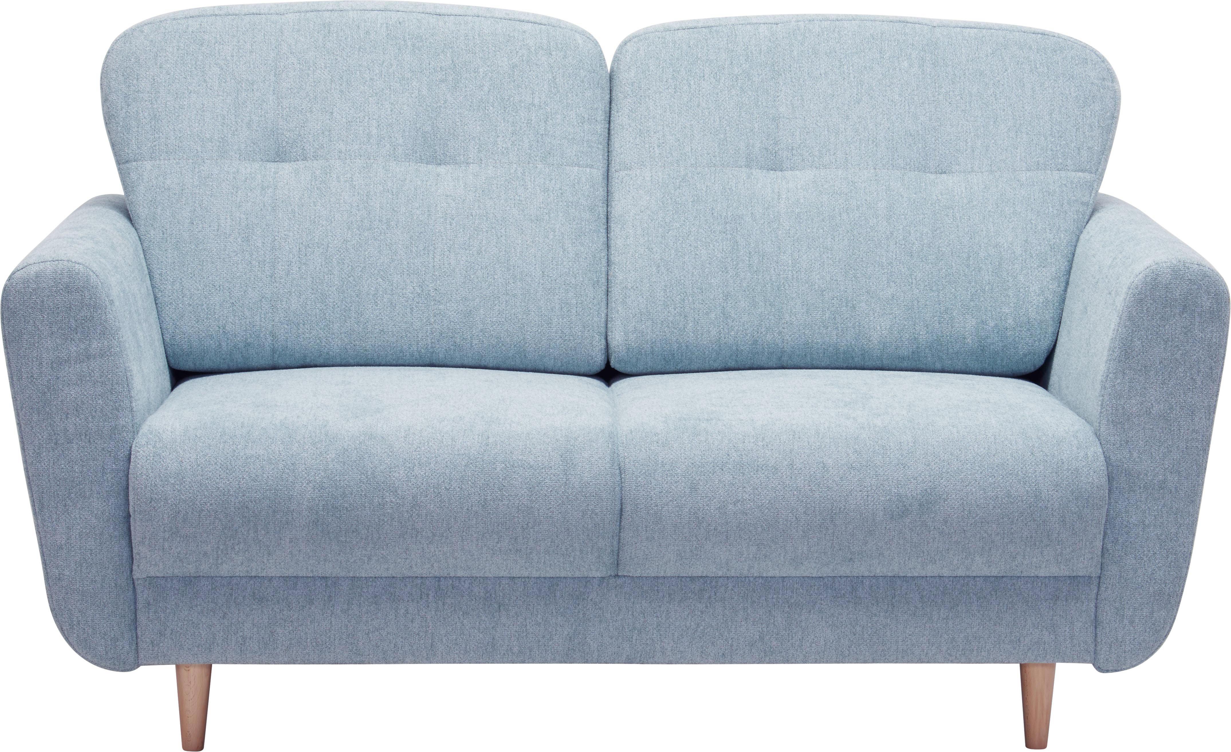 ZWEISITZER-SOFA Hellblau - Hellblau, Design, Holz/Textil (154/90/93cm) - HOM`IN