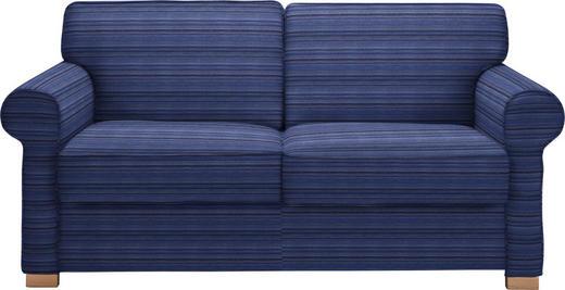 SCHLAFSOFA Blau - Blau/Buchefarben, LIFESTYLE, Holz/Textil (180/86/97cm) - Novel