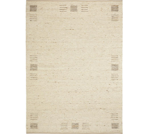 Handwebteppich 70/130 cm  - Creme, Natur, Textil (70/130cm) - Linea Natura