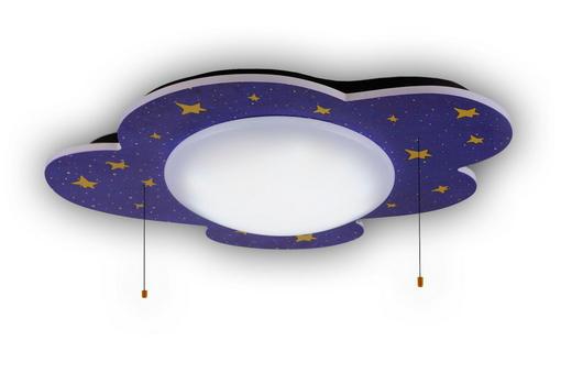 KINDERDECKENLEUCHTE - Multicolor, MODERN, Holz/Kunststoff (74/57/10cm)