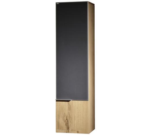 SEITENSCHRANK 32/128/35 cm - Eichefarben/Anthrazit, Design, Glas/Holz (32/128/35cm) - Voglauer
