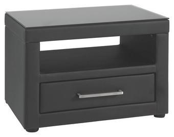 NOČNÍ STOLEK, černá - černá, Basics, textil/umělá hmota (56/42/40cm) - VOLEO
