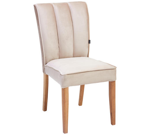 STUHL in Holz, Textil Taupe, Eichefarben - Taupe/Eichefarben, Design, Holz/Textil (48/95/66cm) - Carryhome